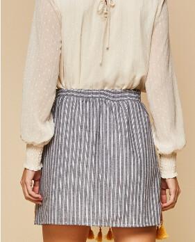Embroidered Fringe Skirt