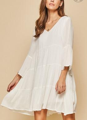 ivory babydoll dress