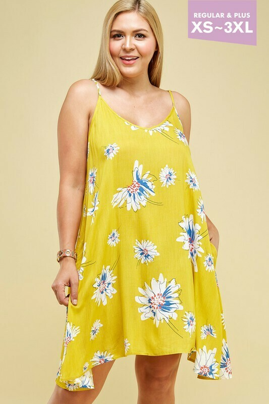 yellow floral shift