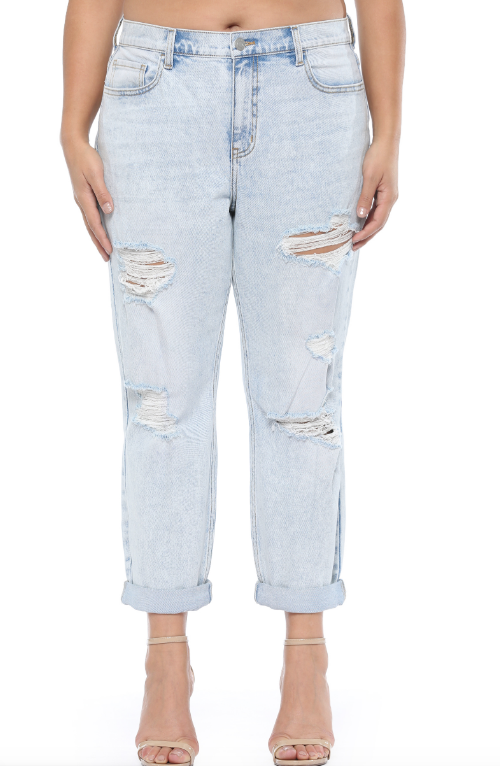 Light Denim Mom Jeans