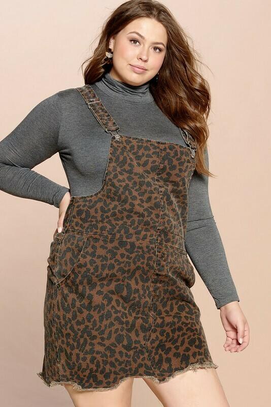 Leopard Overall Dress