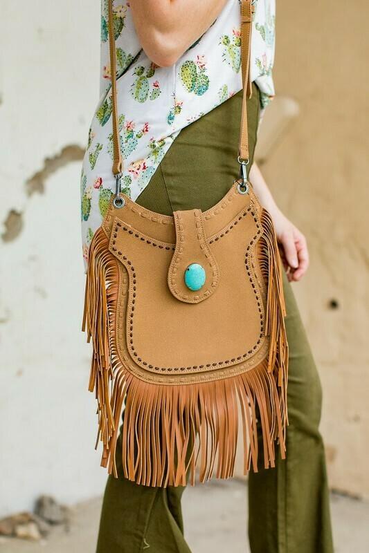 Western fringe bag