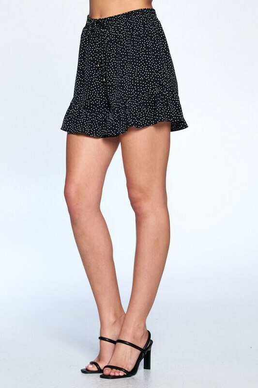 Black Polka Dot Skort