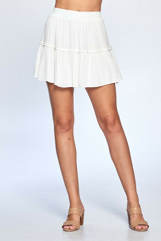 White Ruffle Skirt