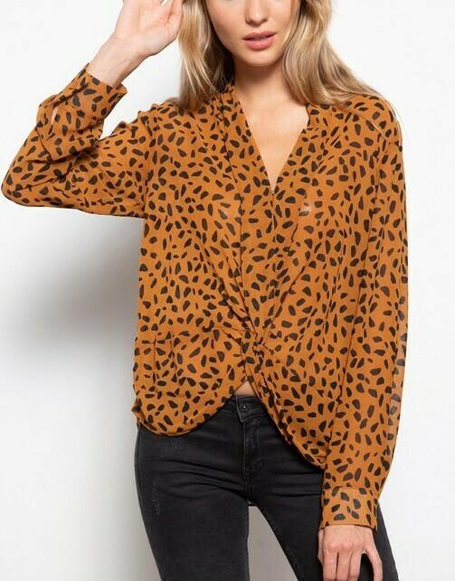 Bronze Leopard Blouse