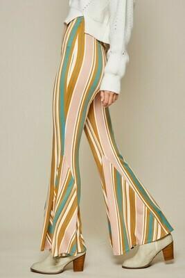 Striped Flare Leggings