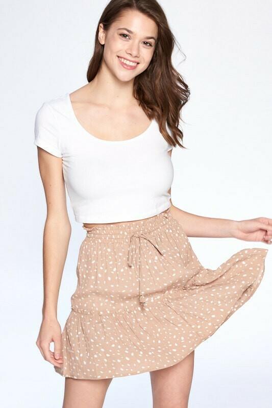 Animal Ruffle Skirt