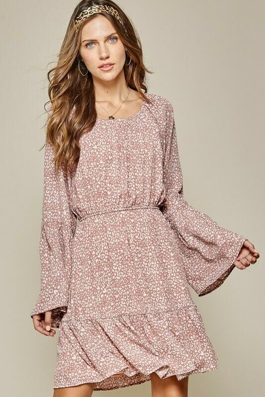 Mauve Leopard Dress
