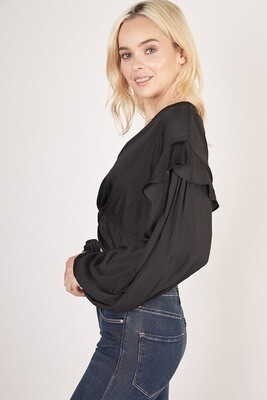 Black Knotted Crop