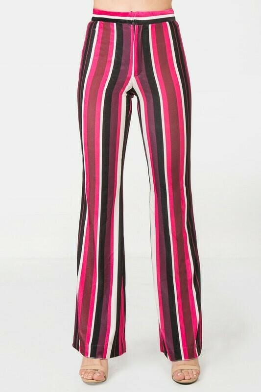 Striped Velvet Flares
