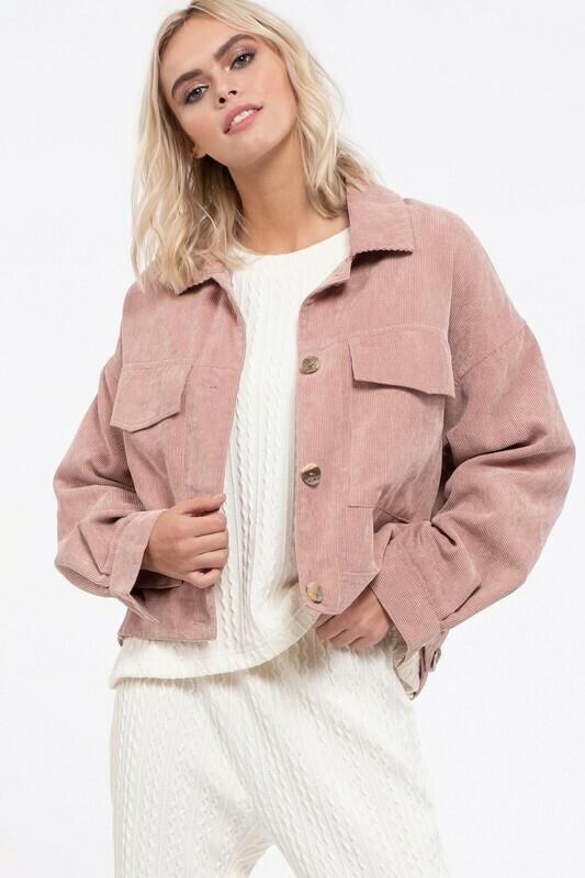 Rose Corduroy Jacket