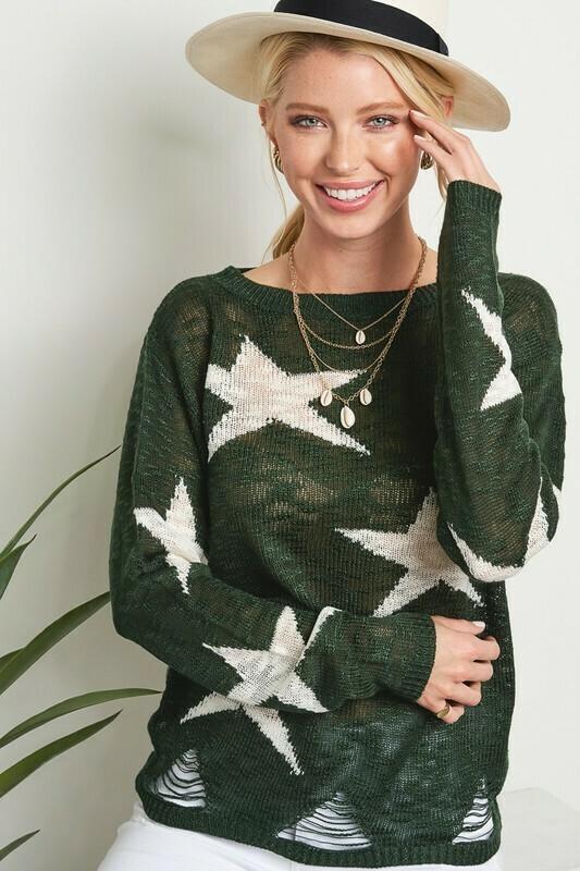 Green Star Sweater