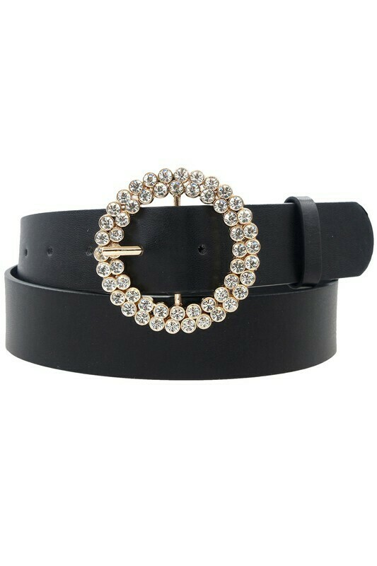 Rhinestone Circle Belt