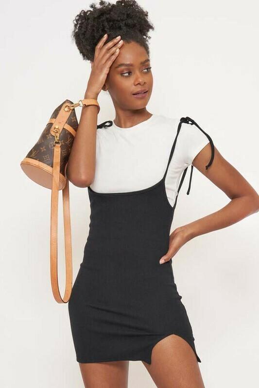 Black Suspender Dress