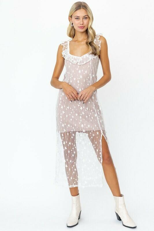 Nude Star Dress