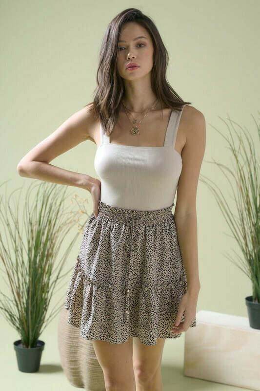 Mocha Leopard Skirt