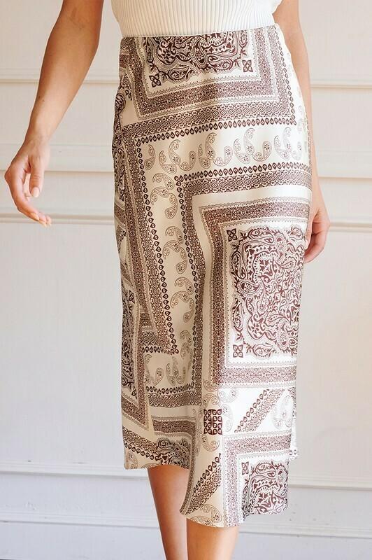 Bandana Midi Skirt