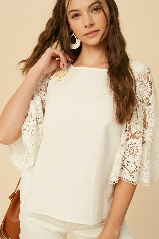 Linen Lace Blouse