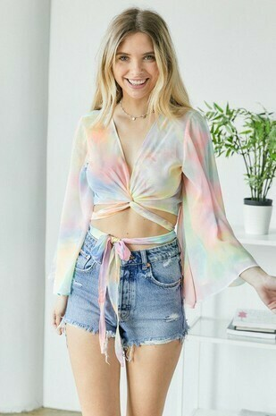 Rainbow Wrap Top
