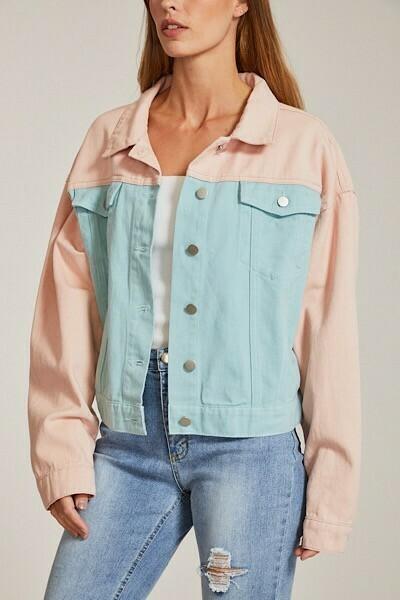 Pastel Denim Jacket