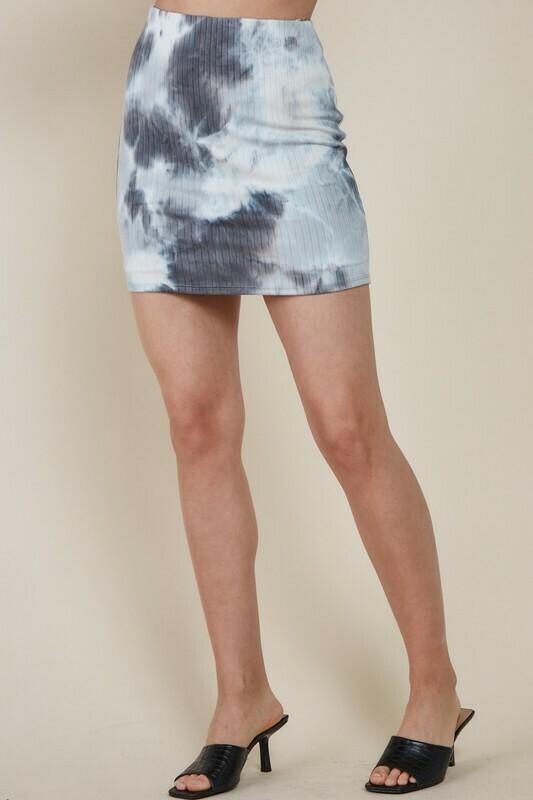 Gray Tie Dye Skirt