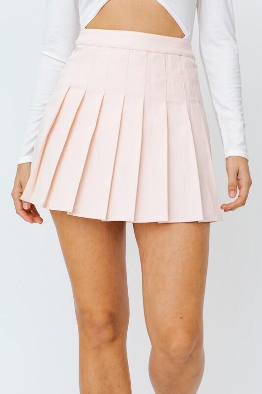Pink Pleated Skirt
