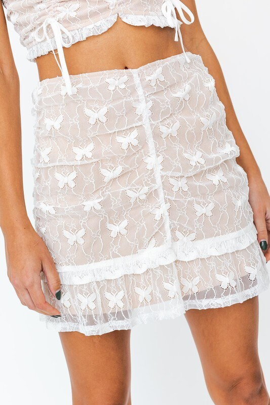 Butterfly Lace Skirt