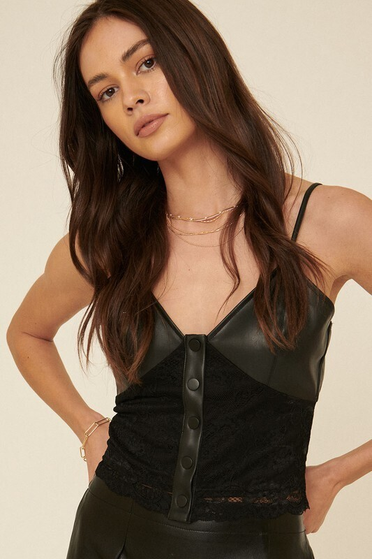 Leather Camisole