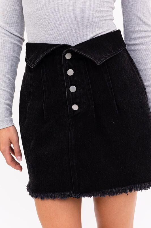 Black Folded Skirt