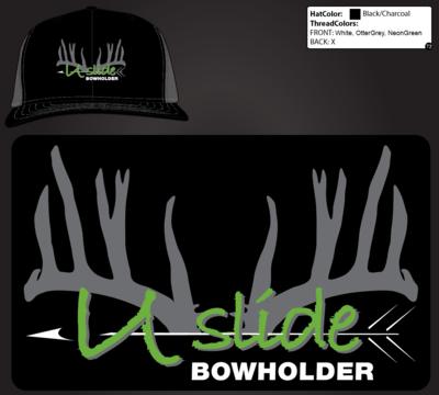U-Slide Embroidered Mesh Hat Black/ Gray