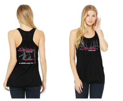 Ladies Racerback Tank - Neon Pink Logo