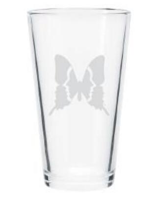 Inman Park Butterfly Pint Glass Set of 4