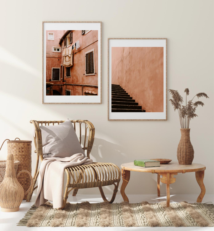 99. Tuscan Terracotta Print Set