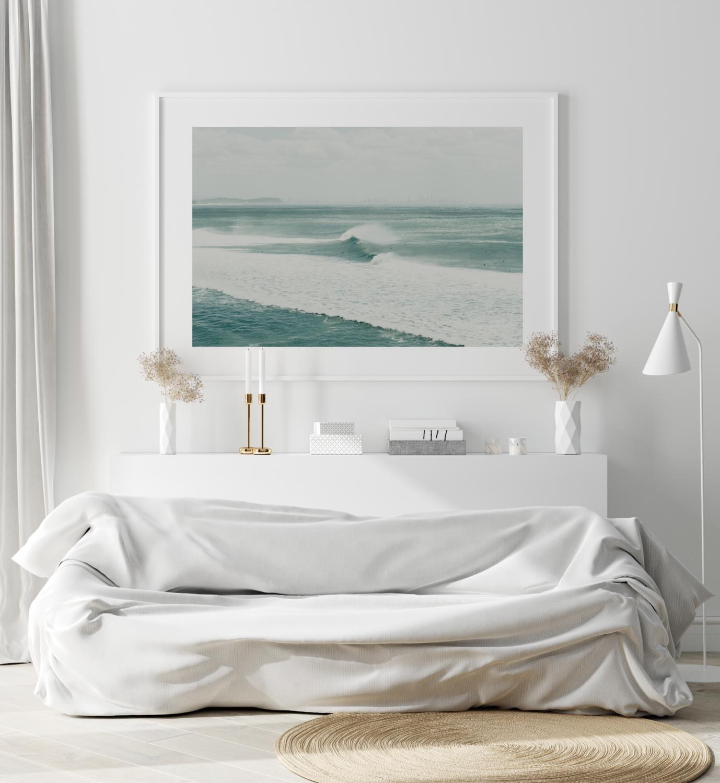1. Surfing Cyclone Oma - Gold Coast Print