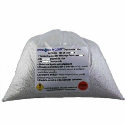 Hychlorite cloro al 65% granulado bolsa 5 libras.