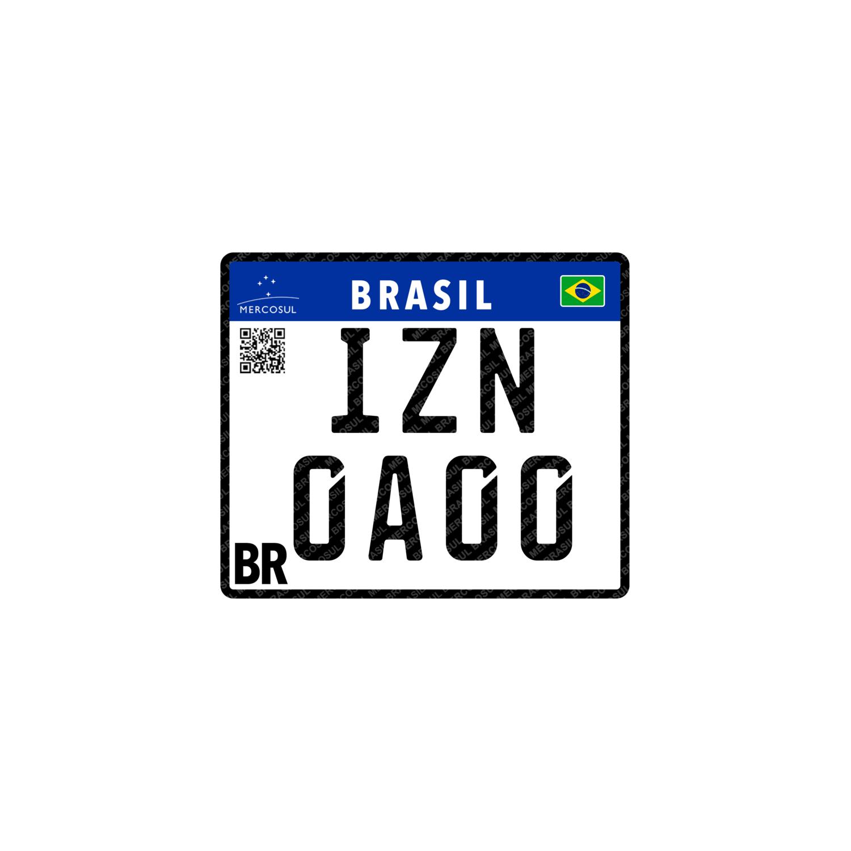 Placa Mercosul - Motocicletas