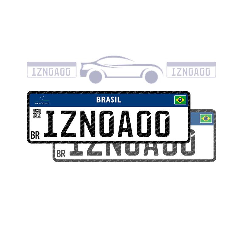 Placa de Automóvel - Par