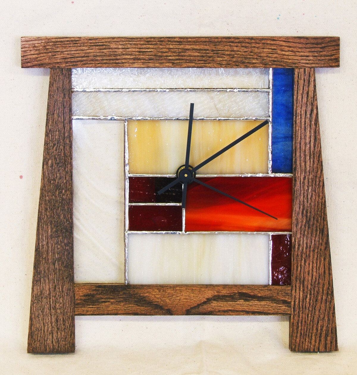Mission Style Standing Window Clock