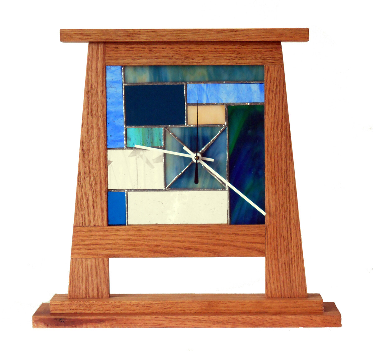 Blue Mission Style Standing Window Clock