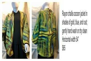Rayon challis cocoon jacket