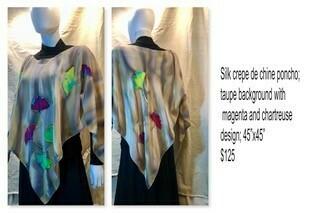 Silk crepe de chine poncho