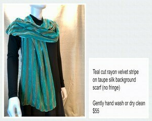 Teal/Taupe Scarf