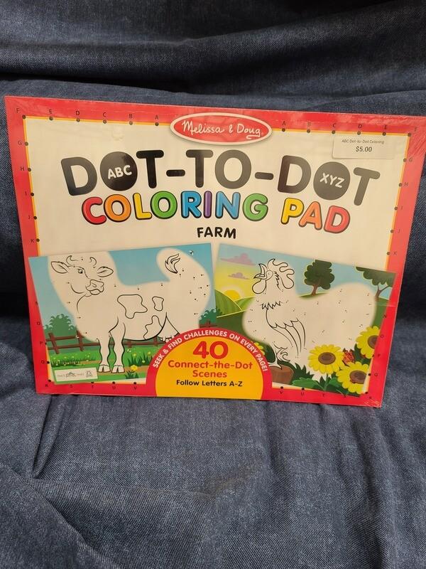 ABC Dot-to-Dot Coloring Pad-Farm