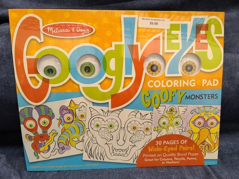 Monsters-Googly Eyes Coloring Pad