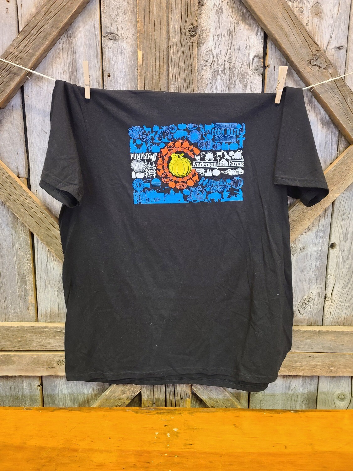 Black Colorado Flag T-shirt-LARGE