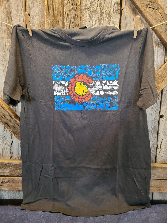 Gray Colorado Flag T-shirt-XXLARGE