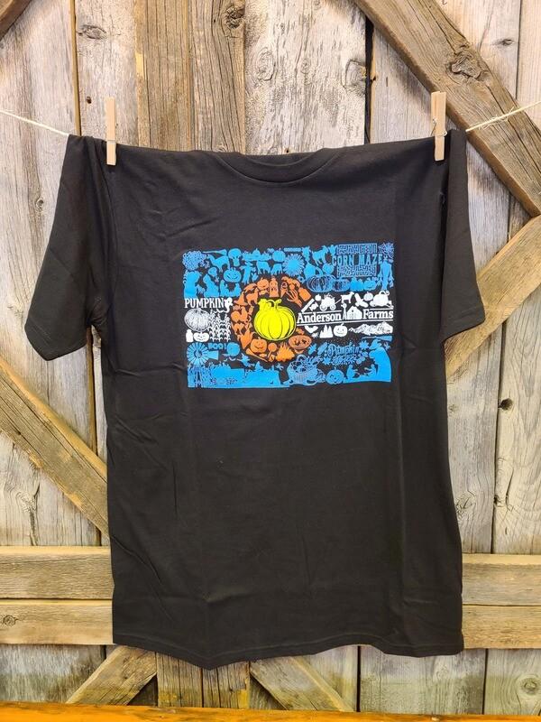 Black Spooky Colorado Flag T-shirt-LARGE
