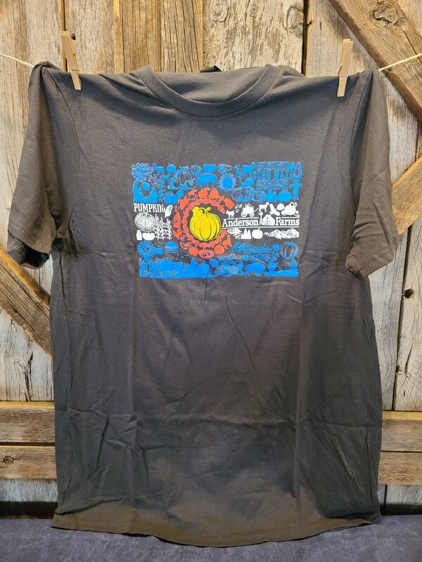 Gray Colorado Flag T-shirt-LARGE