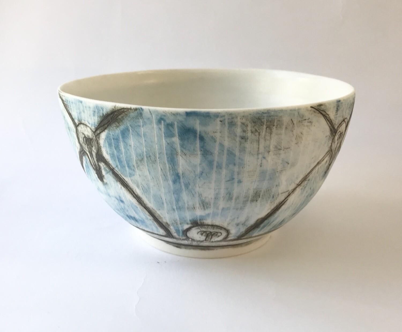 patterned bowl (w light bulb motifs)