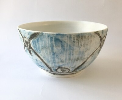patterned bowl (w light bulb motifs)
